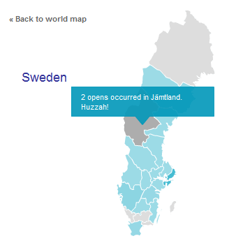 Map of Sweden - by MailChimp